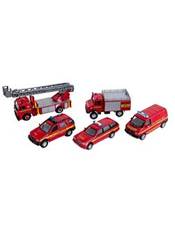 Fire vehicle set