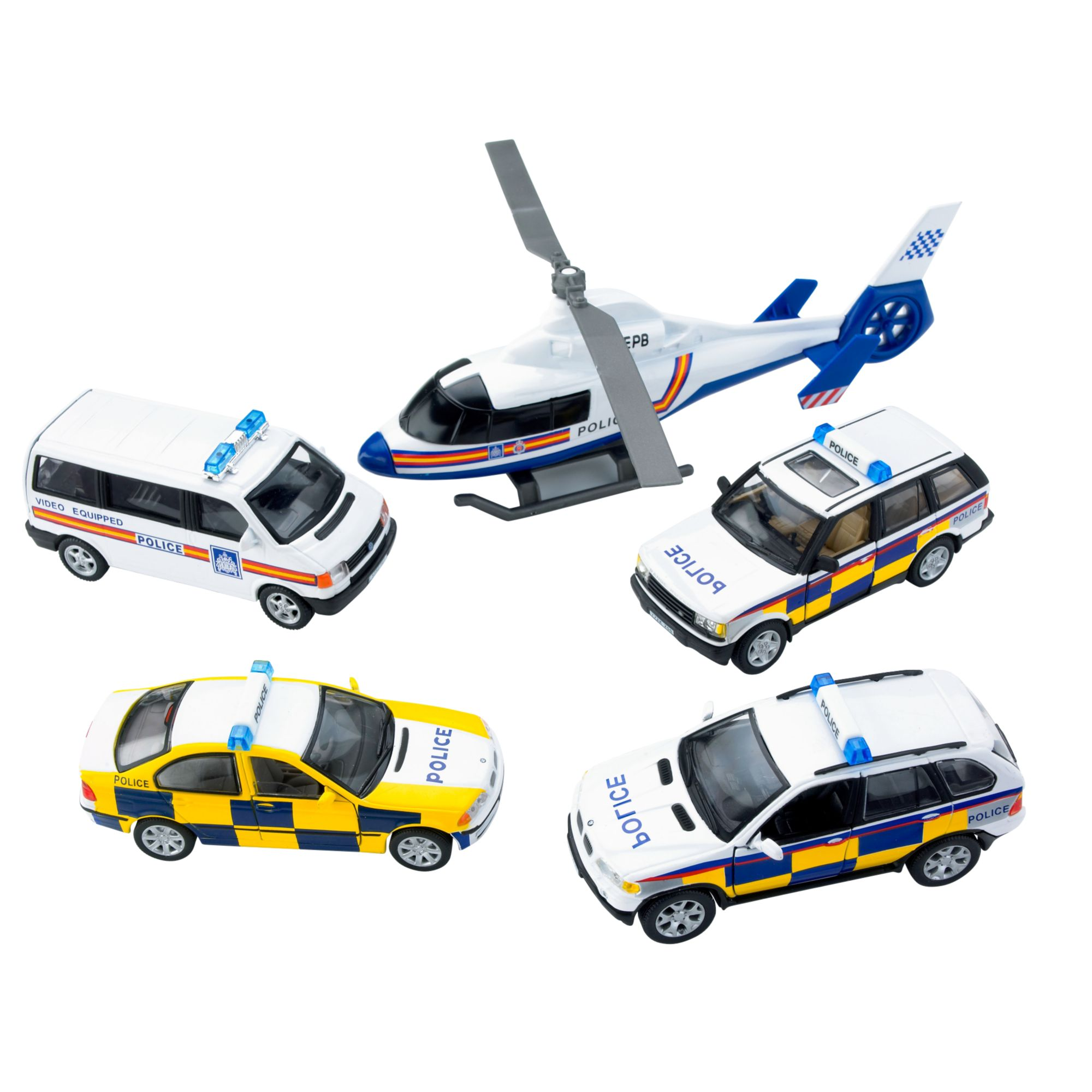 Police vehicle set