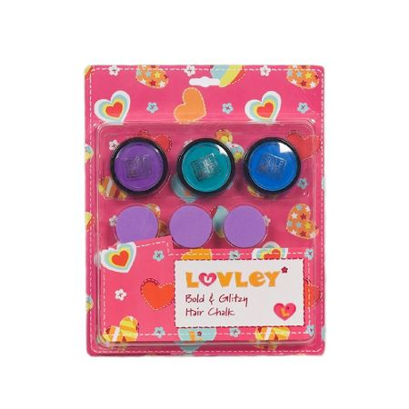 Luvley at Hamleys Bold & Glittzy Hair Chalk Set