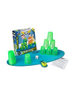 Speed School Stacking cups game - green