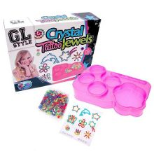 Crystal tattoos and jewellery set