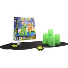 Stacking cups game - neon green
