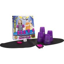 Stacking cups game - glitter purple