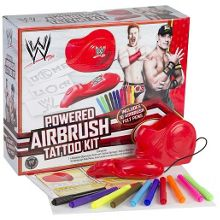 Powered airbrush tattoo kit