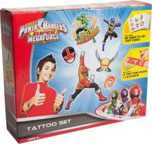 Power Rangers Super Megaforce Tattoo Set