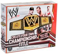 WWE Create your own championship title belt