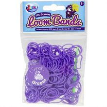 Grape Scented Loom Bands Refill Pack