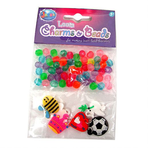 Loom Charms and Beads Refill Pack - 60 Beads