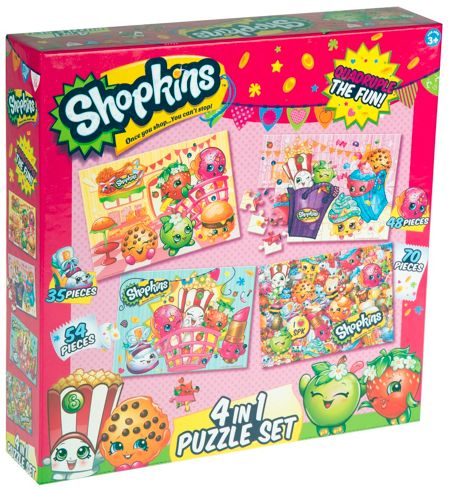 Shopkins 4 in 1 Puzzle Set