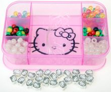 Hello kitty colour changing jewellery with storag