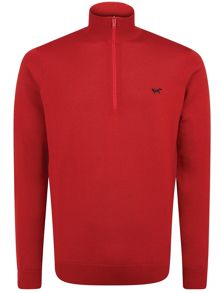 1/4 zip long sleeve pullover jumper