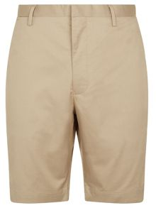 Stretch cotton twill chino shorts
