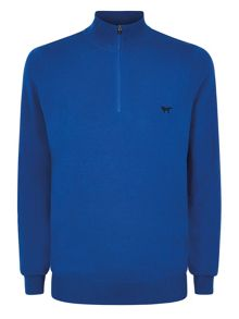 Plain Half Zip Neck Pullover