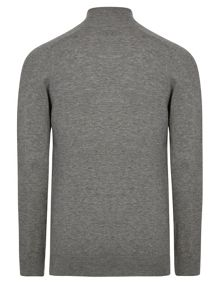 Merino Plain Half Zip Neck Zip Fastening Jumpers