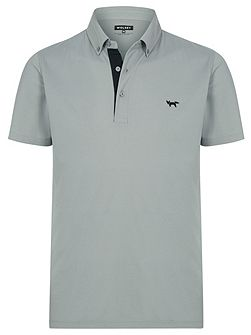 Self collar pique polo