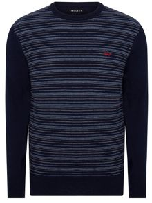 Wolsey Merino Stripe Crew Neck Pull Over Jumpers