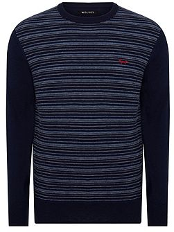 Merino Stripe Crew Neck Pull Over Jumpers