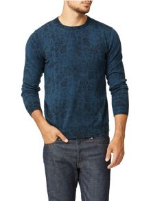 Merino Pattern Crew Neck Pull Over Jumpers