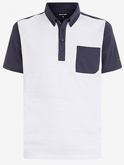 Jacquard block polo