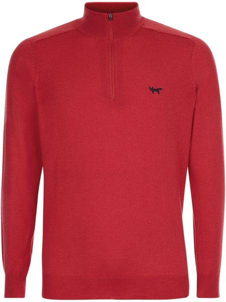 Wolsey Merino zip neck jumper