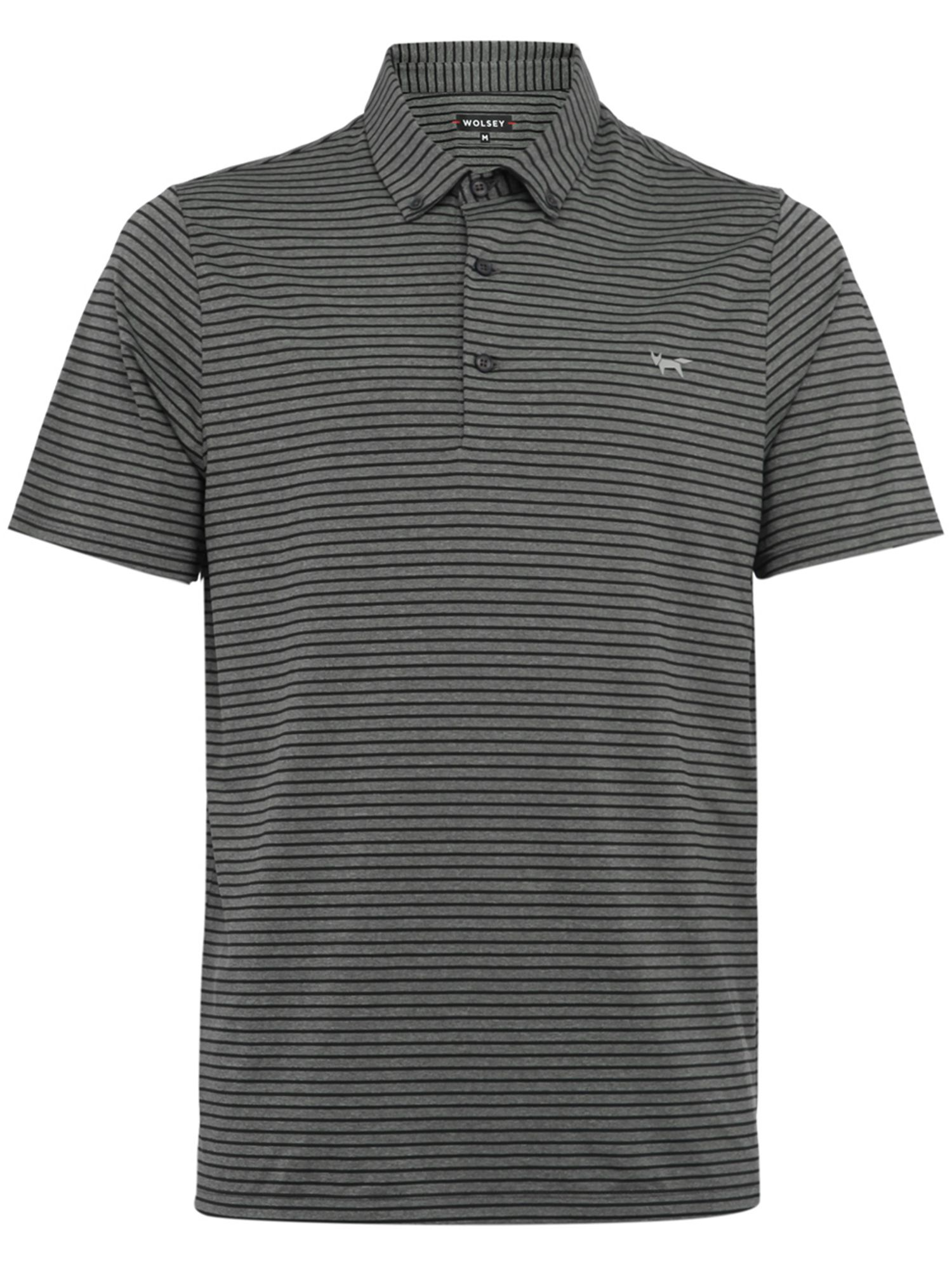 Men's Wolsey Slim Stripe Polo, Grey