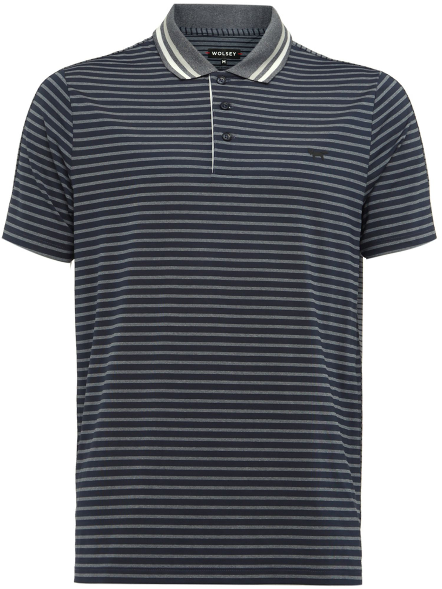 Men's Wolsey Stripe Split Polo, Blue