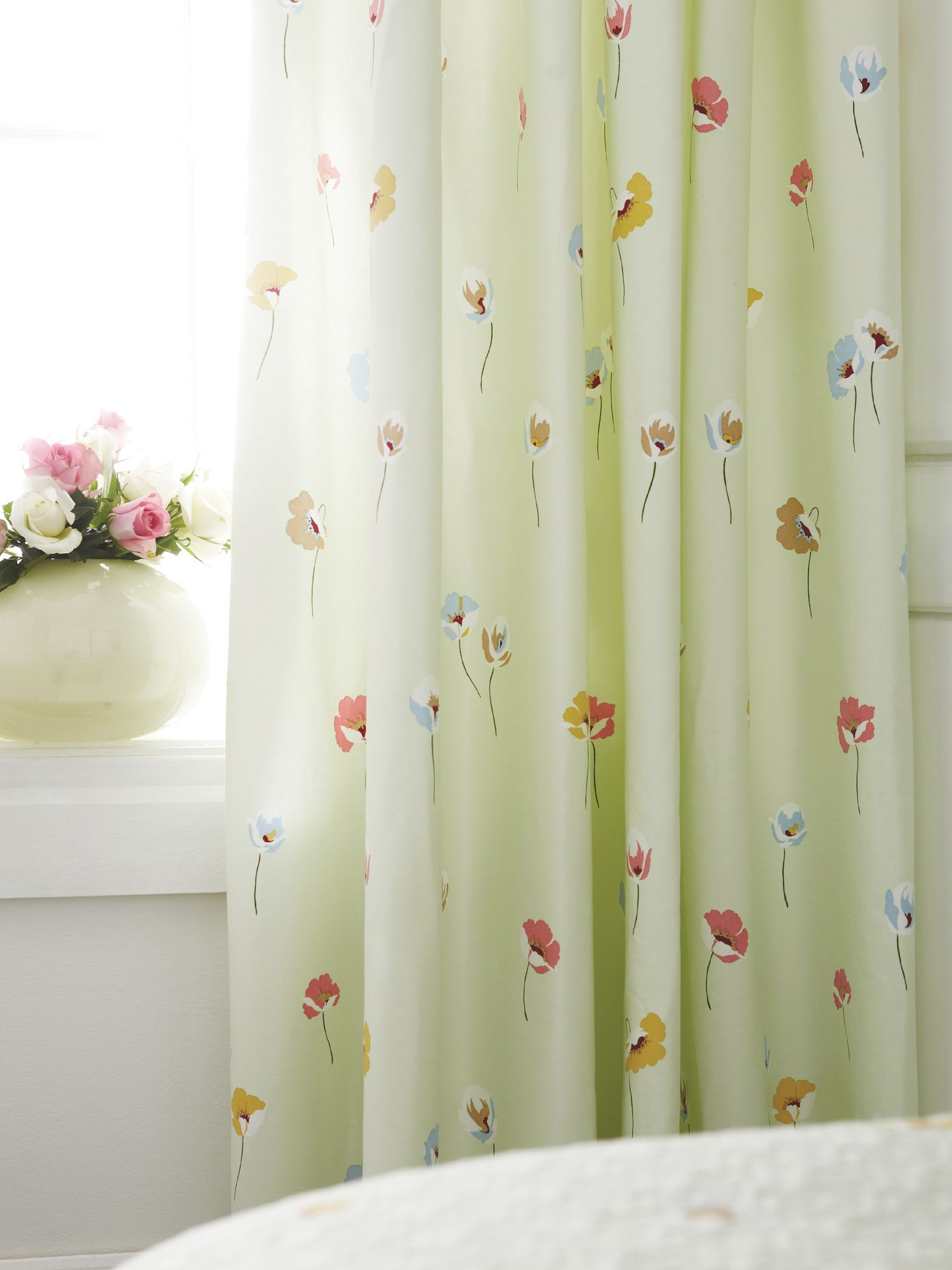 Poppy field curtains 66x72 jade