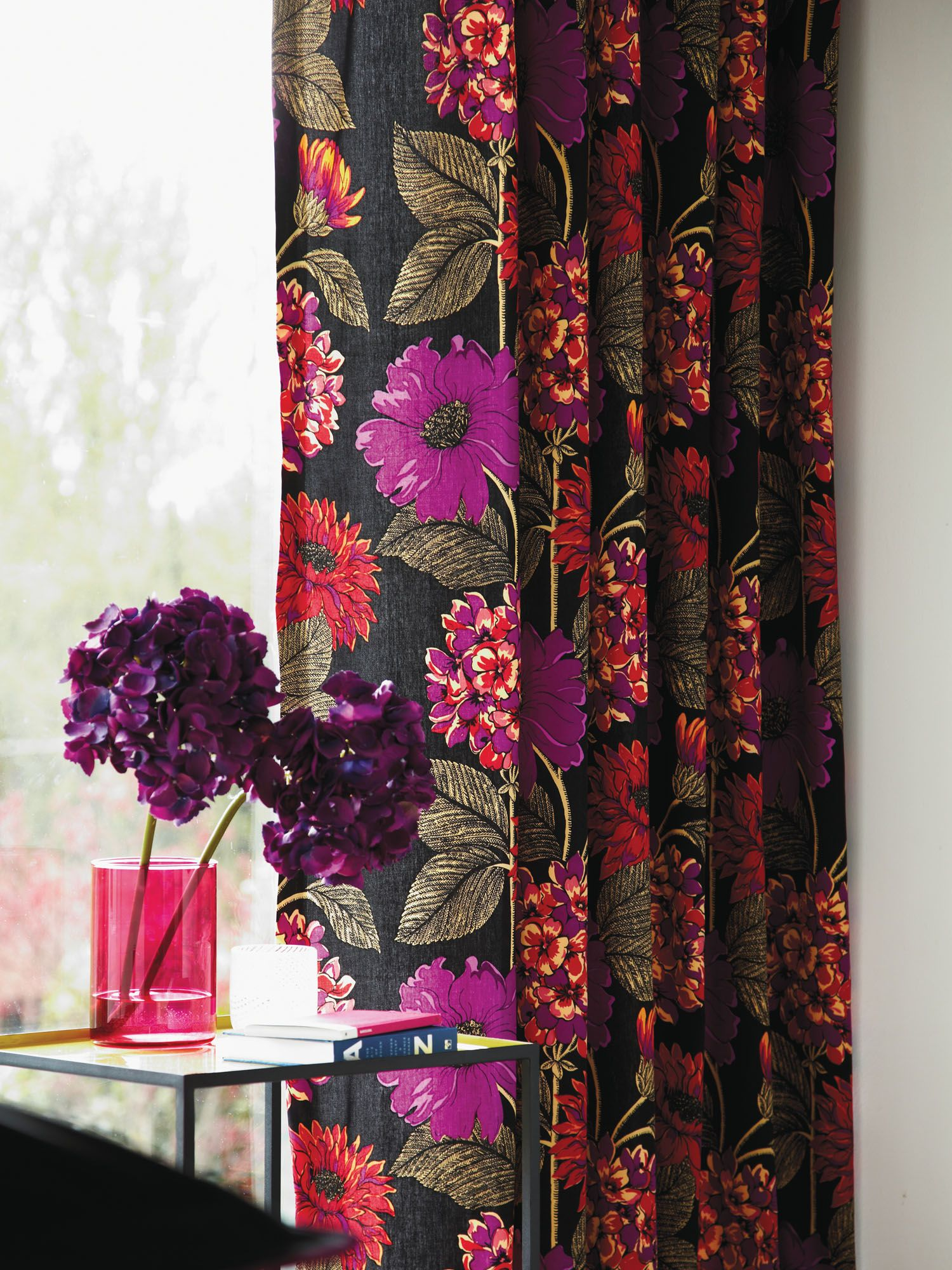 Bella curtains in purple
