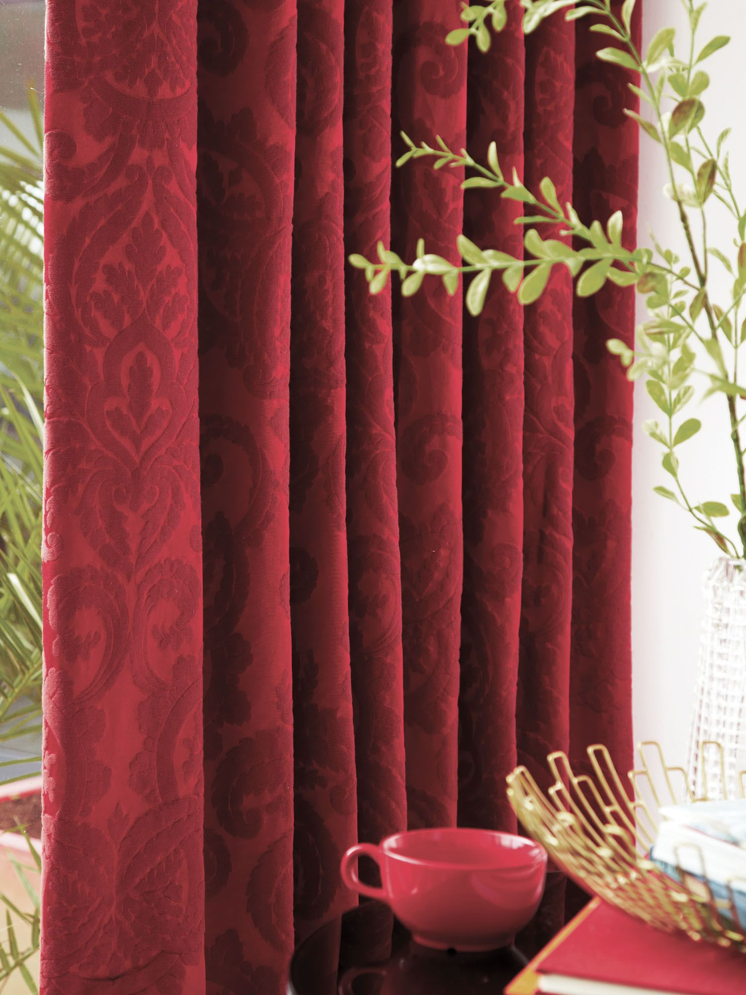 Villari curtains 90x90 red