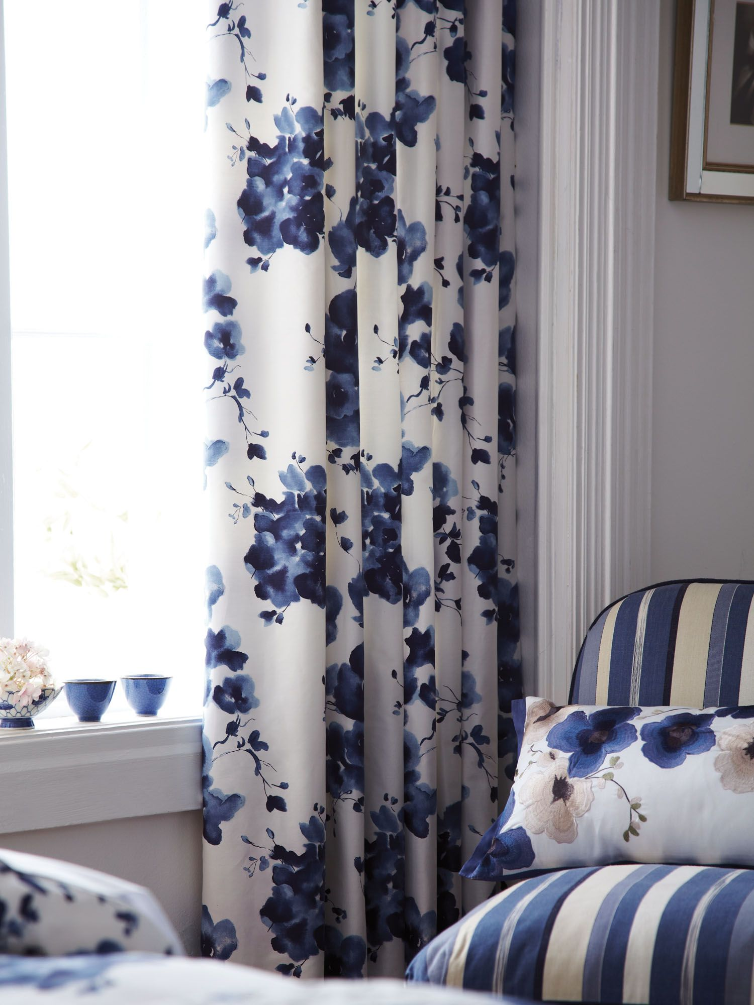 Mandarin flowers curtains