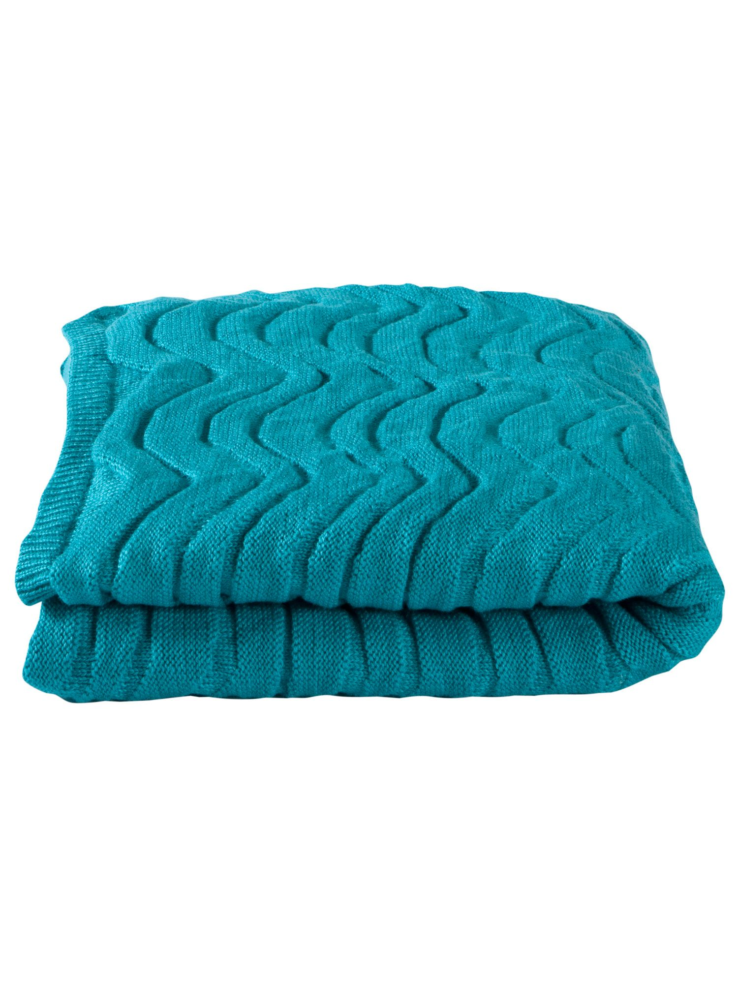 Wavey throw one size teal