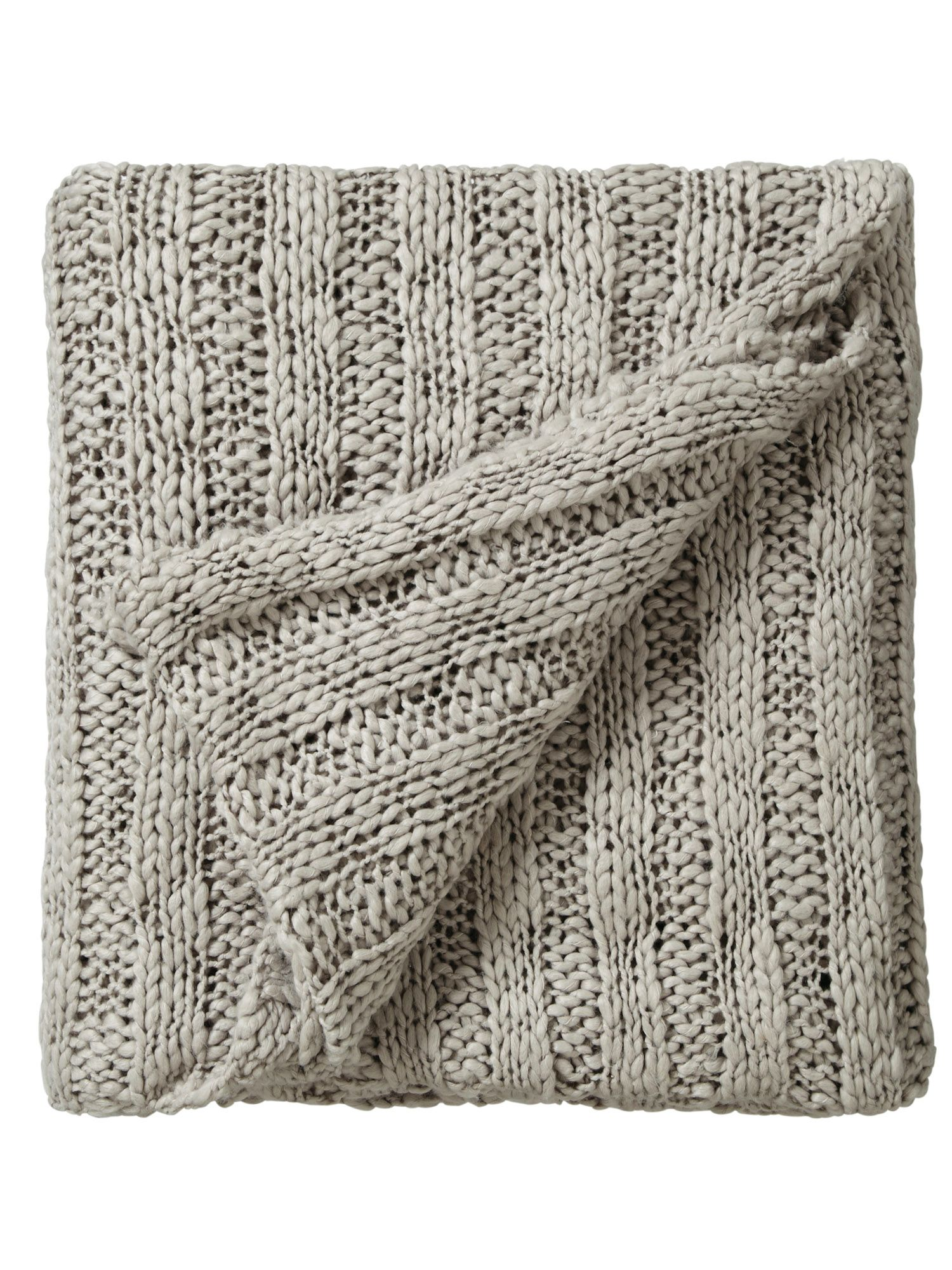 Drift knitted throw 130x150cm stone