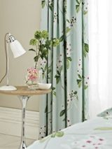 Oleander lined curtains 90x90 aqua