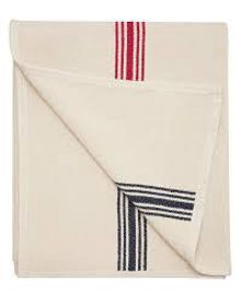 Ticking stripe throw one size creme