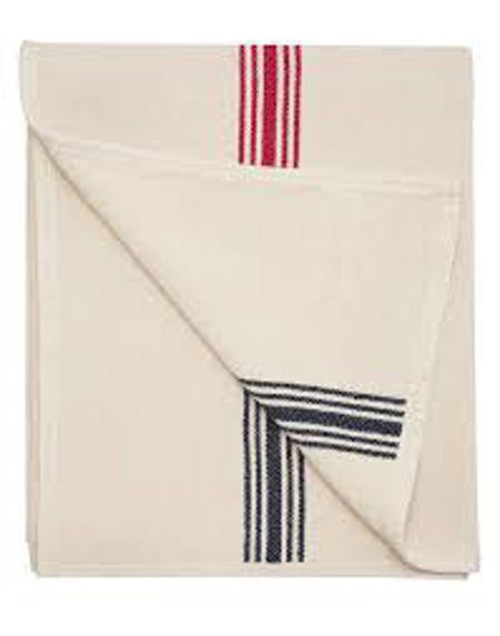 Joules Ticking stripe throw one size creme