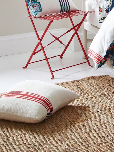 Joules Ticking stripe cushions 40 x 40cm red stripe