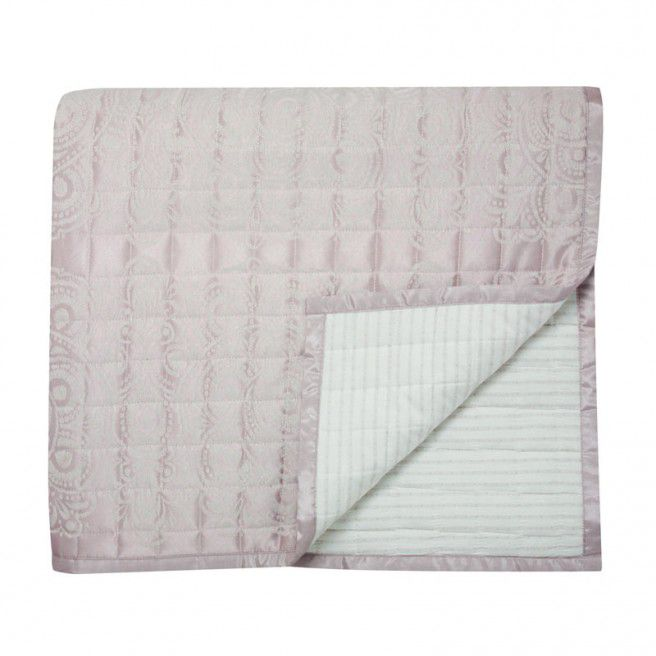 Lucca throw 265x260 shell pink