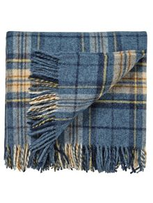 Morris & co woodford plaid blanket 140x185cm blue