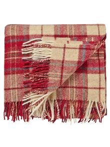 Morris & co woodford plaid blanket 140x185cm  red