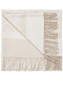 Repose throw 130x150cm+10cm natural