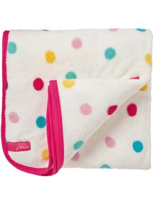 Joules Horseplay spot on fleece throw 140x180cm multi