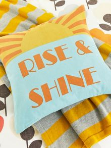 Rise & shine cushion 40cm x 40cm multi