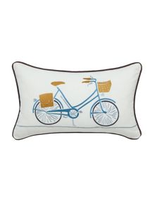 Scion Snow drop parchment cushion