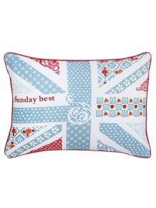 Julie Dodsworth Sunday best cushion 30x40cm blue