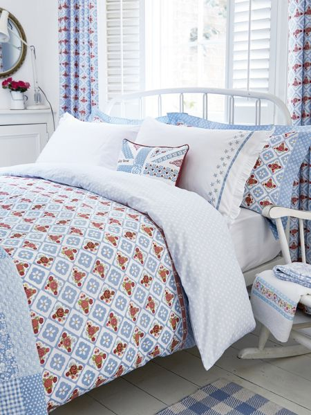 Julie Dodsworth Sunday best pillowcase housewife blue
