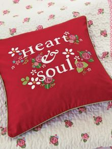 Heart & soul cushion 40x40cm multi
