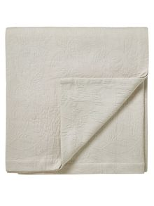 Sanderson Pyramus throw 240cm x 260cm linen