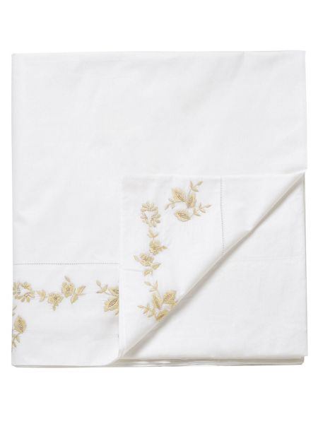 Sanderson Pyramus flat sheet double king linen