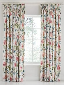 Sanderson Clementine lined curtains 66 x 72 duck egg