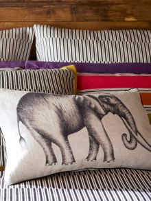 Harlequin Kaledio elephant cushion 50x30 linen